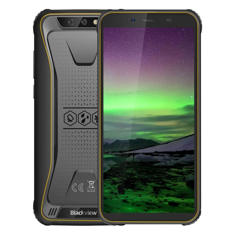 Afbeelding van Blackview BV5500, 2 GB + 16 GB, Dual back camera's, 4400mAh accu, 5.5 inch Android 8.1 MTK6580P Quad Core tot 1.3 GHz, netwerk: 3 G, OTG, Dual SIM, EU Version(Yellow)