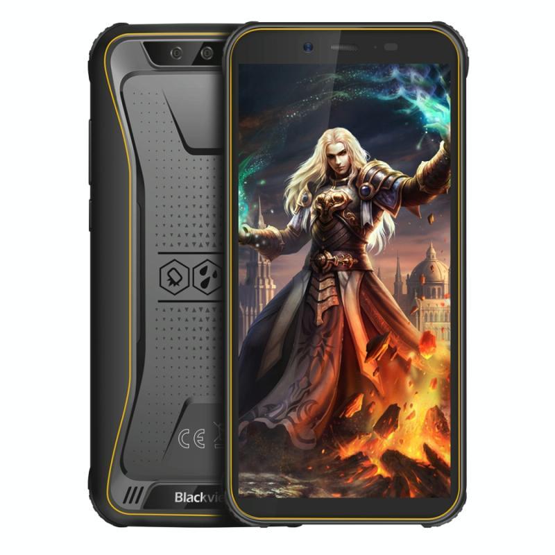 Afbeelding van Blackview BV5500 Pro Rugged telefoon 3GB + 16GB IP68 waterdichte stof schokbestendig Dual back camera's gezicht Unlock 4400mAh batterij 5 5 inch Android 9 0 MTK6739 Quad-Core tot 1 3 GHz netwerk: 4G NFC OTG Dual SIM (geel)