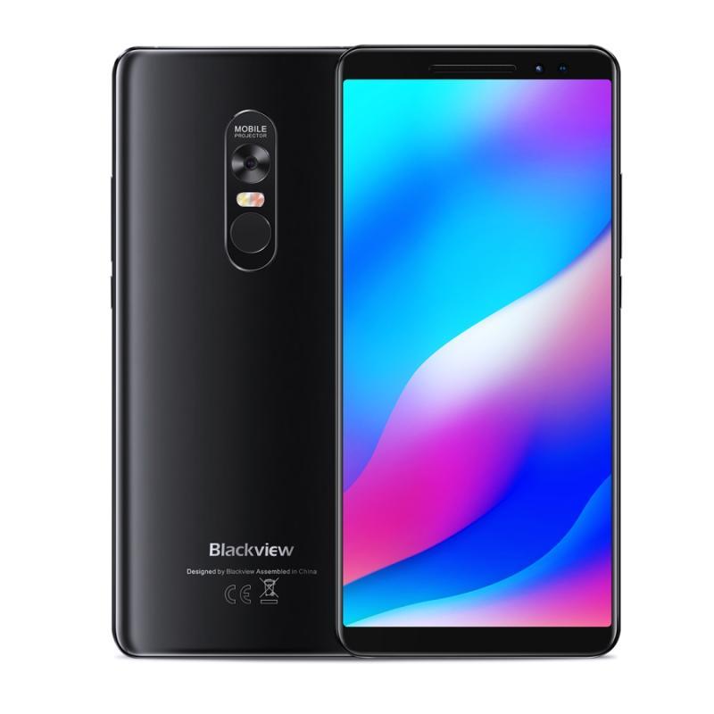 Afbeelding van Blackview MAX1 Laser-Projector telefoon 6 GB + 64 GB Dual Front camera's 4680mAh batterij 6.01 inch Android 8.1 MTK6763T Octa Core maximaal 2 5 GHz netwerk: 4 G Dual SIM NFC(Black)