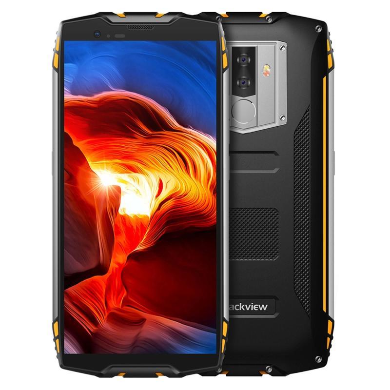Afbeelding van Blackview BV6800 Pro robuuste telefoon, 4 GB + 64 GB, IP68 waterdichte stofdicht Shockproof, 6580mAh batterij, gezicht ID & fingerprint identificatie, 5.7 inch Android 8.0 MTK6750T Octa Core omhoog tot 1,5 GHz, NFC, draadloos opladen, Network: 4G(Yellow)
