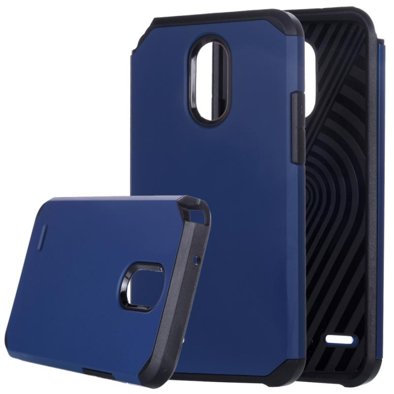 Afbeelding van LG Stylus 3 schokbestendig TPU + kunststof back cover Hoesje (donker blauw)