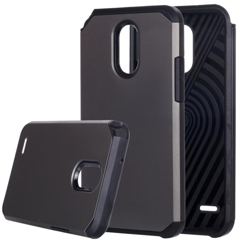 Afbeelding van LG Stylus 3 schokbestendig TPU + kunststof back cover Hoesje (grijs)