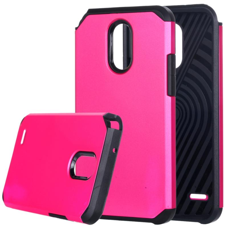 Afbeelding van LG Stylus 3 schokbestendig TPU + kunststof back cover Hoesje (hard roze)
