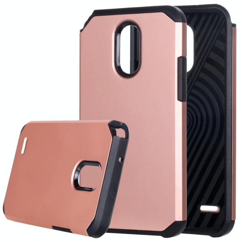 Afbeelding van LG Stylus 3 schokbestendig TPU + kunststof back cover Hoesje (roze goudkleurig)