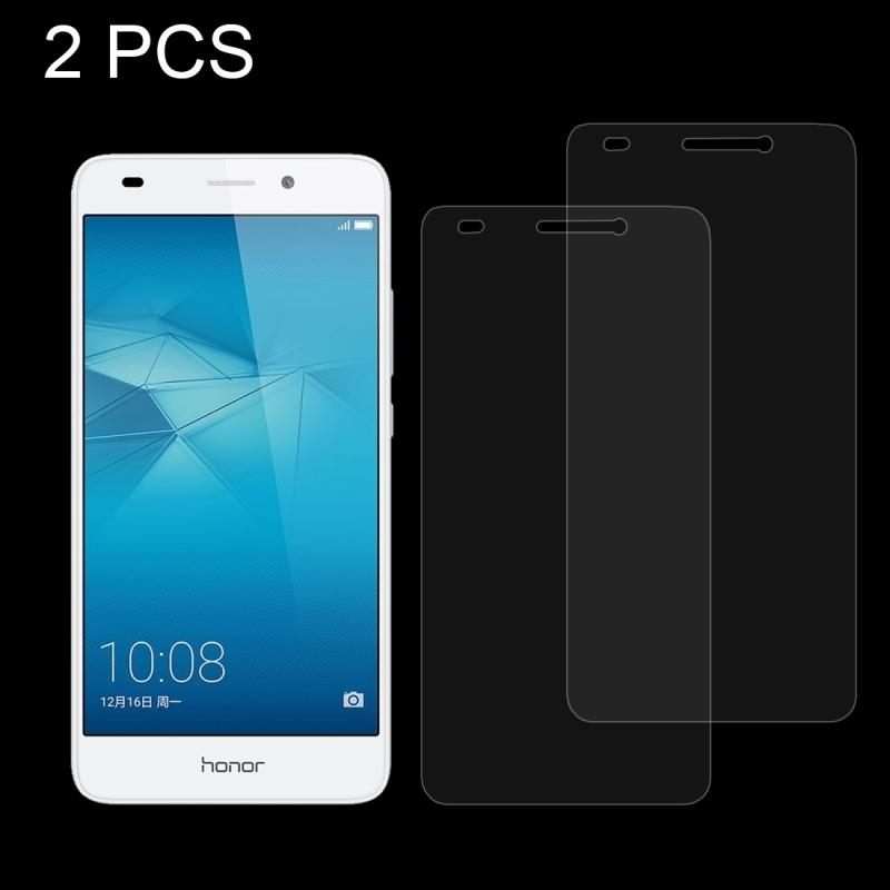 Afbeelding van 2 stuks voor Huawei Honor 5c 0 26 mm 9H oppervlaktehardheid Explosieveilig niet-volledig scherm gehard glas scherm Film