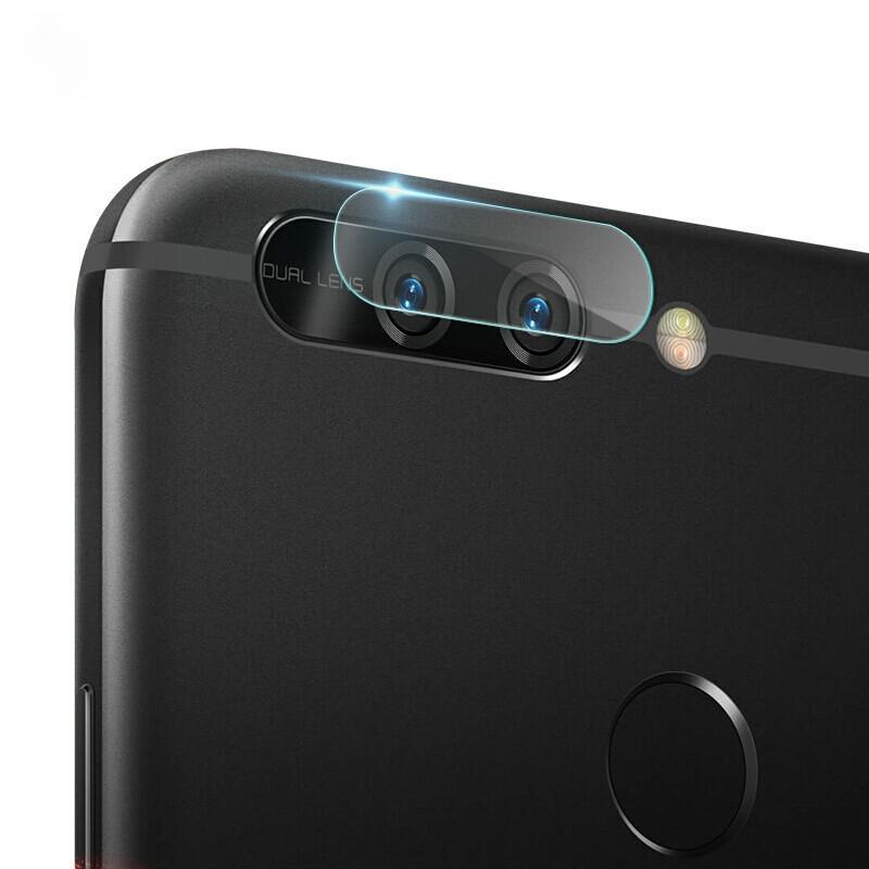 Afbeelding van 0.3mm 2.5D transparante achterkant Camera Lens Protector getemperd glas Film voor Huawei Honor V9