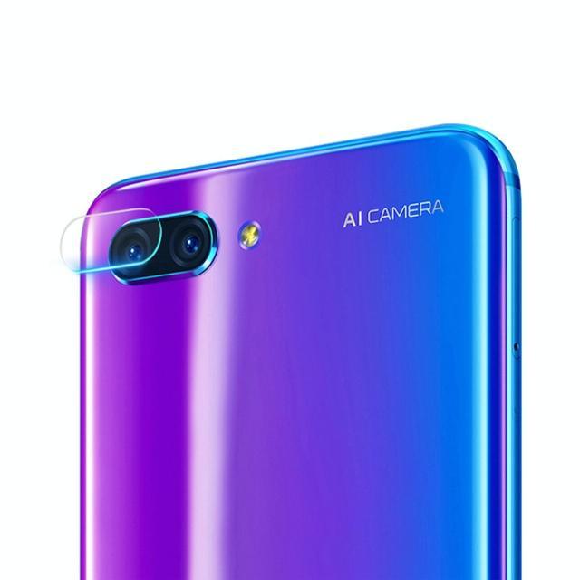 Afbeelding van 0.3mm 2.5D transparante achterkant Camera Lens Protector getemperd glas Film voor Huawei Honor 10