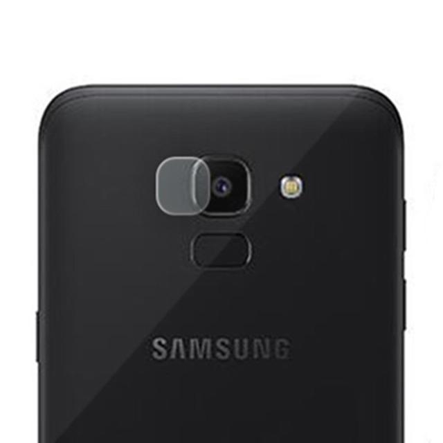 Afbeelding van 0.3mm 2.5D transparante achterkant Camera Lens Protector getemperd glas Film voor Galaxy J6 (2018)