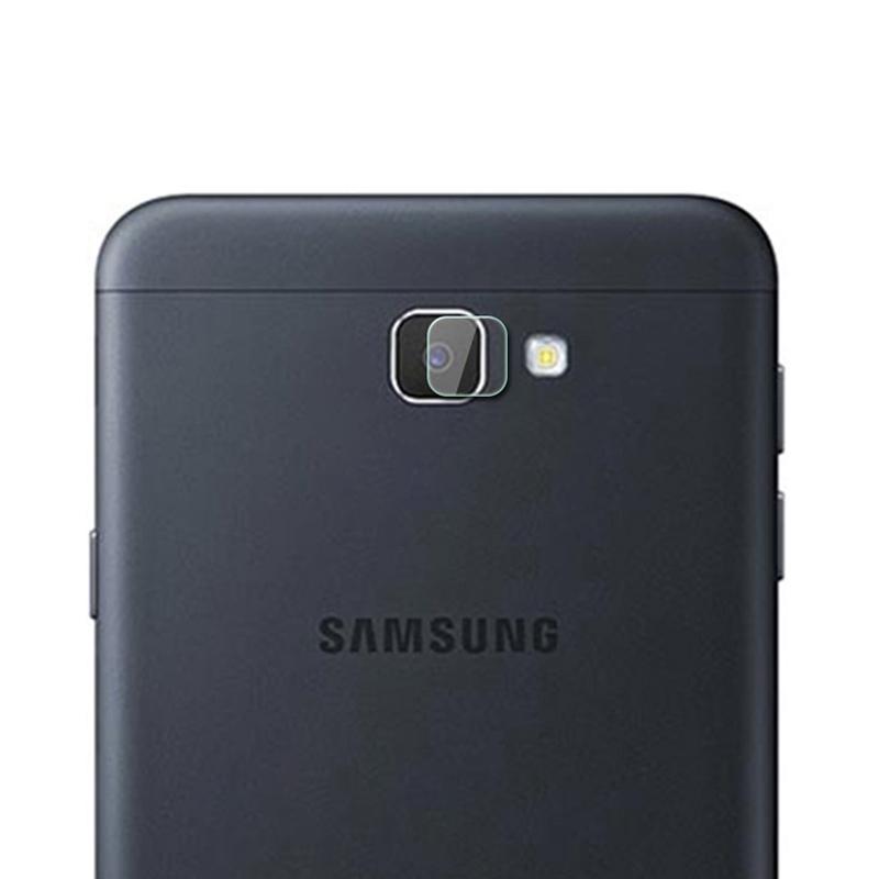 Afbeelding van 0.3mm 2.5D transparante achterkant Camera Lens Protector getemperd glas Film voor Galaxy J7 Prime