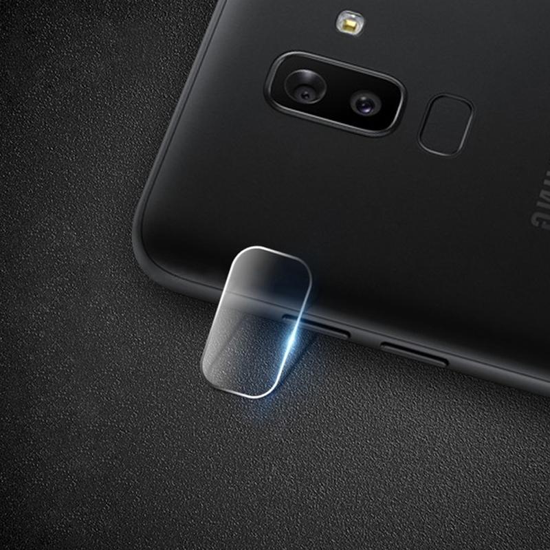 Afbeelding van 0.3mm 2.5D transparante achterkant Camera Lens Protector getemperd glas Film voor Galaxy J8 (2018)