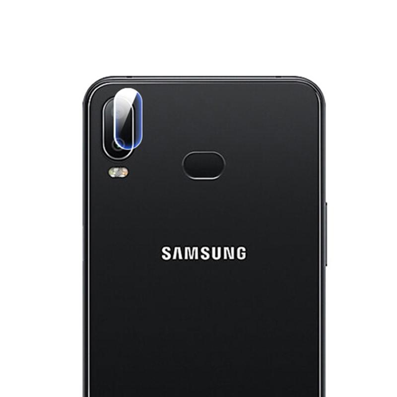 Afbeelding van 0.3mm 2.5D transparante achterkant Camera Lens Protector getemperd glas Film voor Galaxy A6s