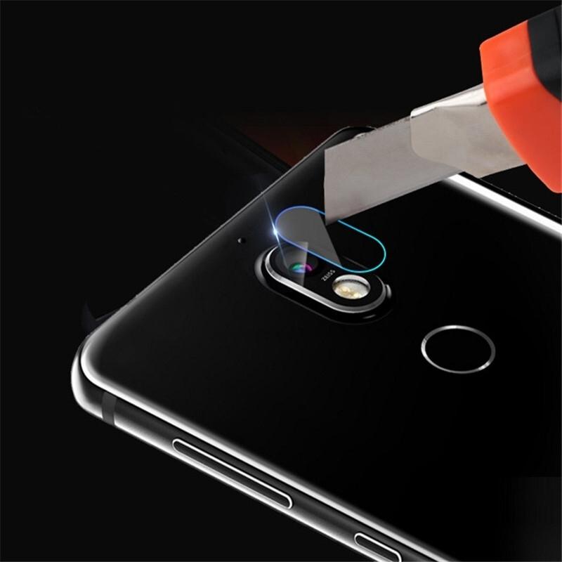 Afbeelding van 0.3mm 2.5D rond de Lens van de Camera van de achterkant van de rand getemperd glas Film voor Nokia 7