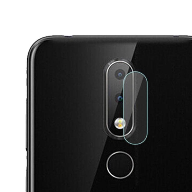 Afbeelding van 0.3mm 2.5D rond de Lens van de Camera van de achterkant van de rand getemperd glas Film voor Nokia X6