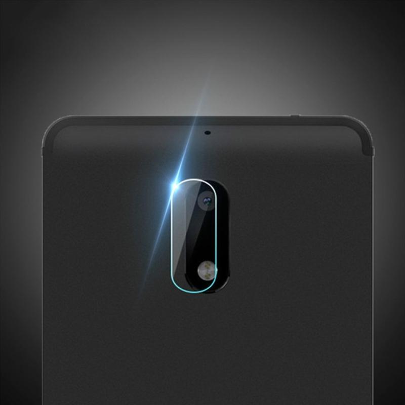 Afbeelding van 0.3mm 2.5D rond de Lens van de Camera van de achterkant van de rand getemperd glas Film voor Nokia 6