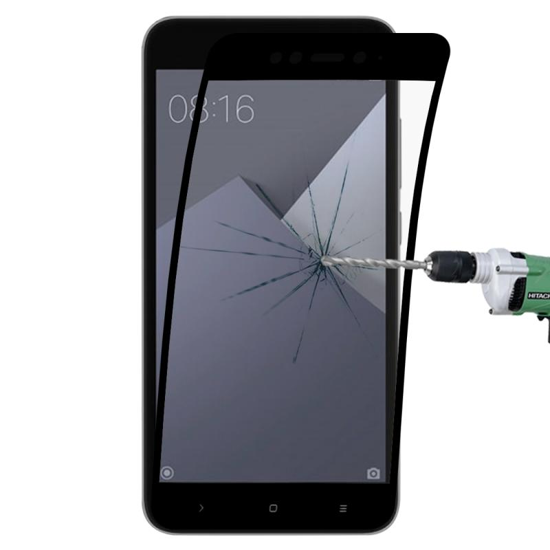 Afbeelding van 0.1mm 9H volledig scherm flexibele vezel getemperd glas Film voor Xiaomi Redmi Note 5A (zwart)