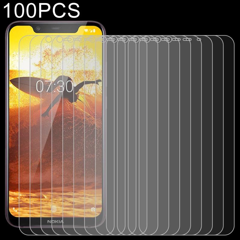 Afbeelding van 100 stuks 0 26 mm 9H 2.5D explosieveilige getemperd glas Film voor Nokia 8.1