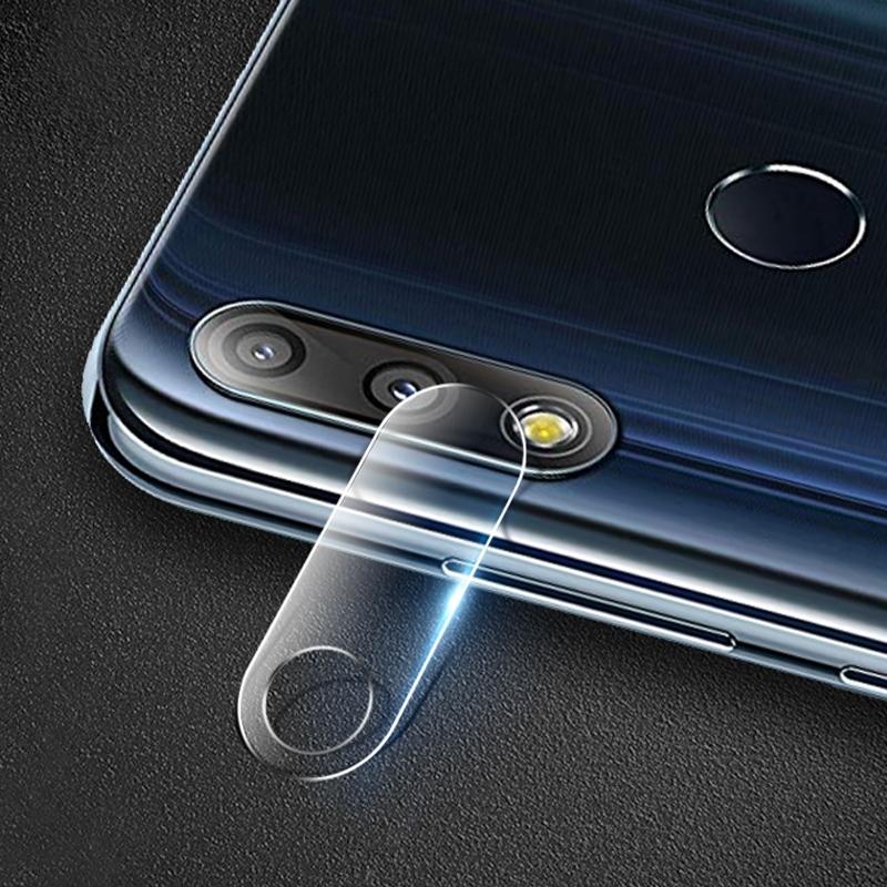 Afbeelding van 0.3 mm 2.5 D transparante achterste camera lens beschermer gehard glas film voor ASUS Zenfone Max Pro (m2) ZB631KL