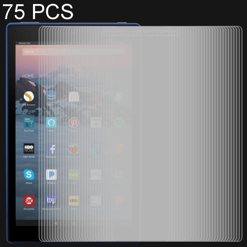 Afbeelding van 75 stuks 0.3mm 9H volledige scherm getemperd glas Film voor Amazon Kindle Fire HD 10 2017 10 1 inch