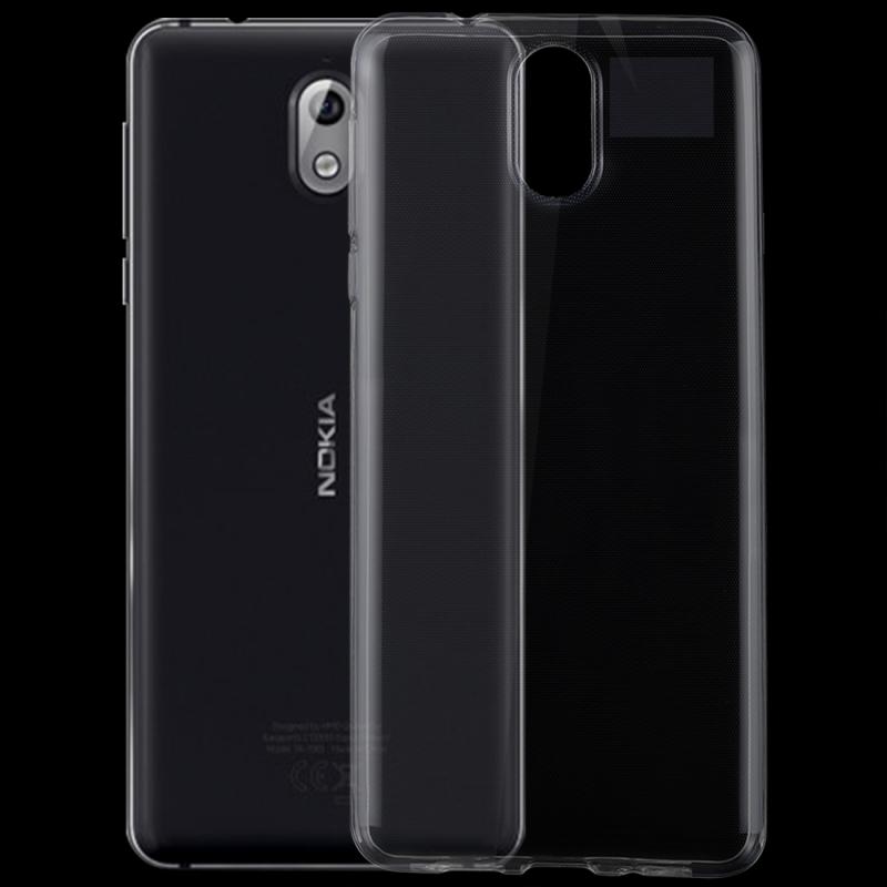 Afbeelding van 0 75 mm transparant TPU Case voor Nokia 3.1