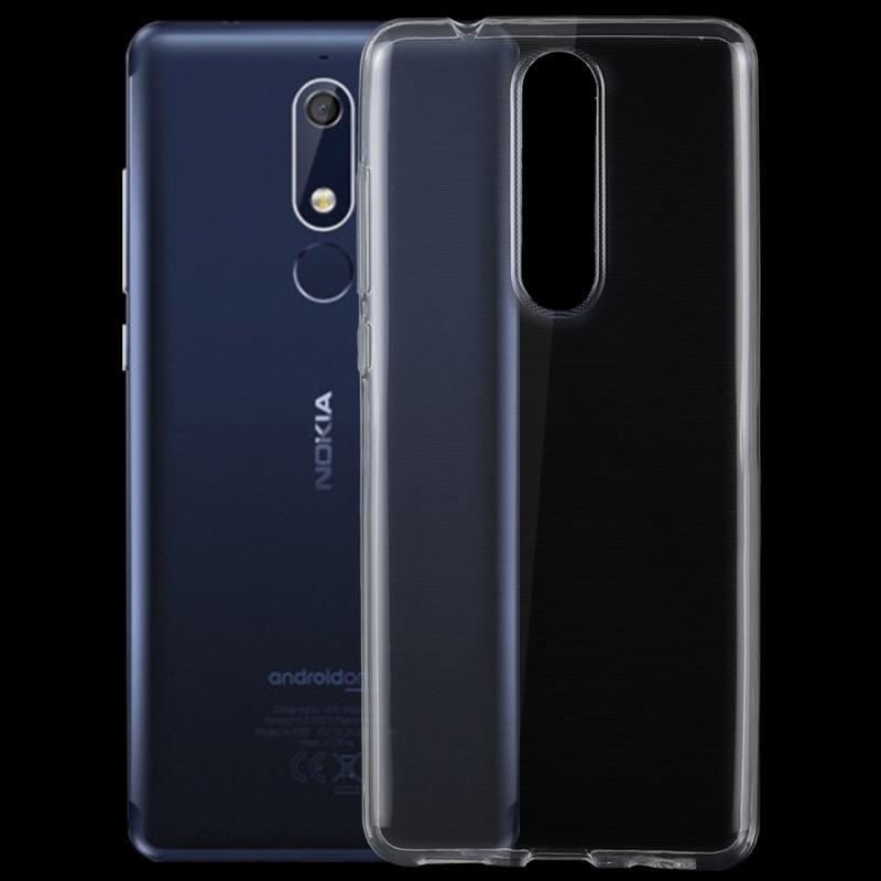 Afbeelding van 0 75 mm transparant TPU Case voor Nokia 5.1