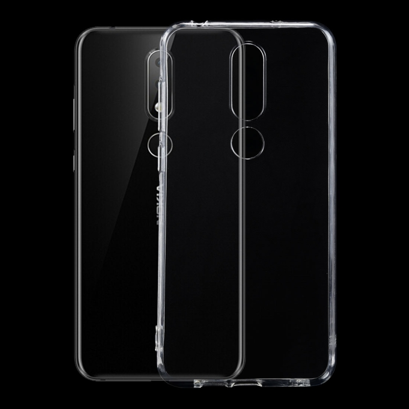 Afbeelding van 0 75 mm transparant TPU Case voor Nokia X6 (2018)