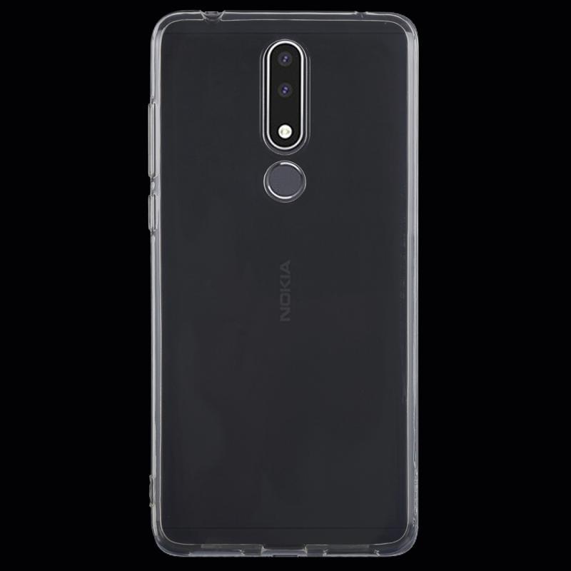 Afbeelding van 0 75 mm uiterst dunne transparante TPU beschermende softcase voor Nokia 3.1 Plus