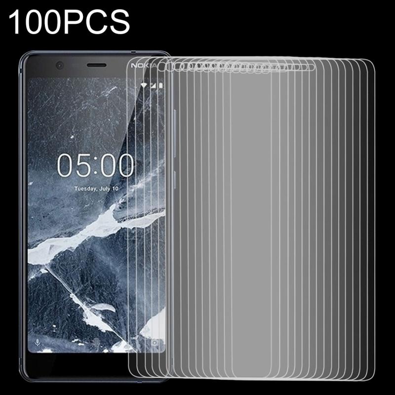Afbeelding van 100 stuks 9H 2.5D getemperd glas Film voor Nokia 5.1