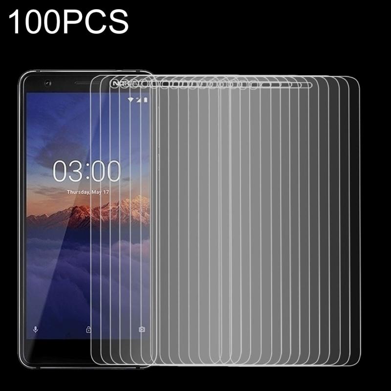 Afbeelding van 100 stuks 9H 2.5D getemperd glas Film voor Nokia 3.1