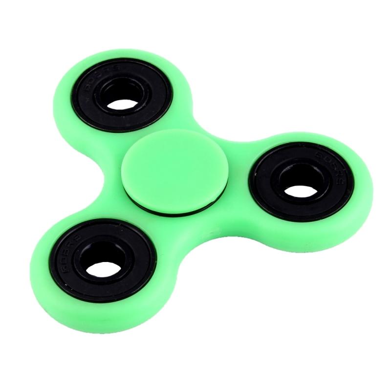 Fidget Spinner Speeltje tegen stress en angst met Fluorescerende Verlichting voor kinderen en volwassenen, 4 Minuten Rotatie Tijd, Hybride Keramische Lager + POM materiaal (groen)