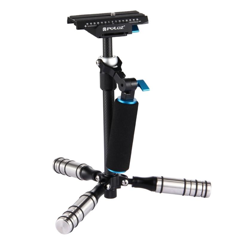 PULUZ P40T Koolstofvezel Handheld Stabilisator Steadicam voor DSLR & DV Digitale Video Camera, Draagvermogen: tot 5 kg