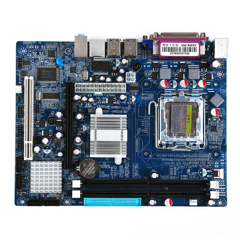 Afbeelding van LGA 775 DDR2 desktop computer moederbord voor Intel 945GV-chip geïntegreerde geluidskaart grafische kaart netwerkkaart ondersteuning Single/Dual Core