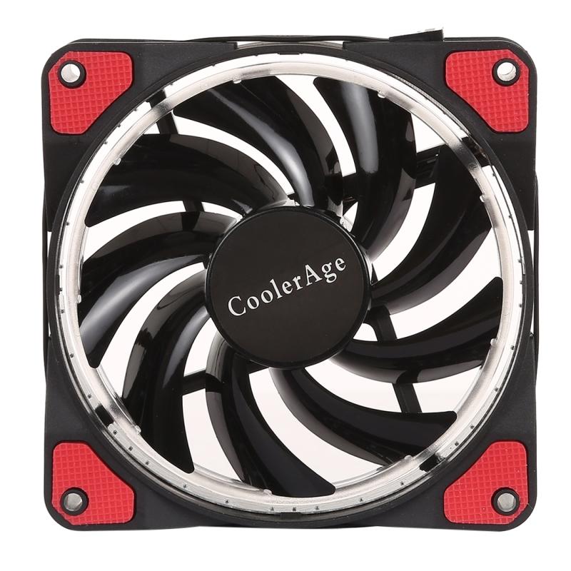 Afbeelding van Kleur LED 12cm 4pin Computer onderdelen Chassis Fan Computer Host koelventilator ventilator stille koeling met rode Light(Red)