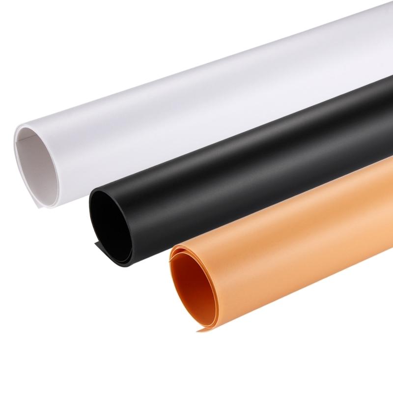 PULUZ (zwart wit geel) achtergrond achtergrond papier Board Kit voor verlichting Studio Tent vak fotoformaat: 120 cm x 60 cm