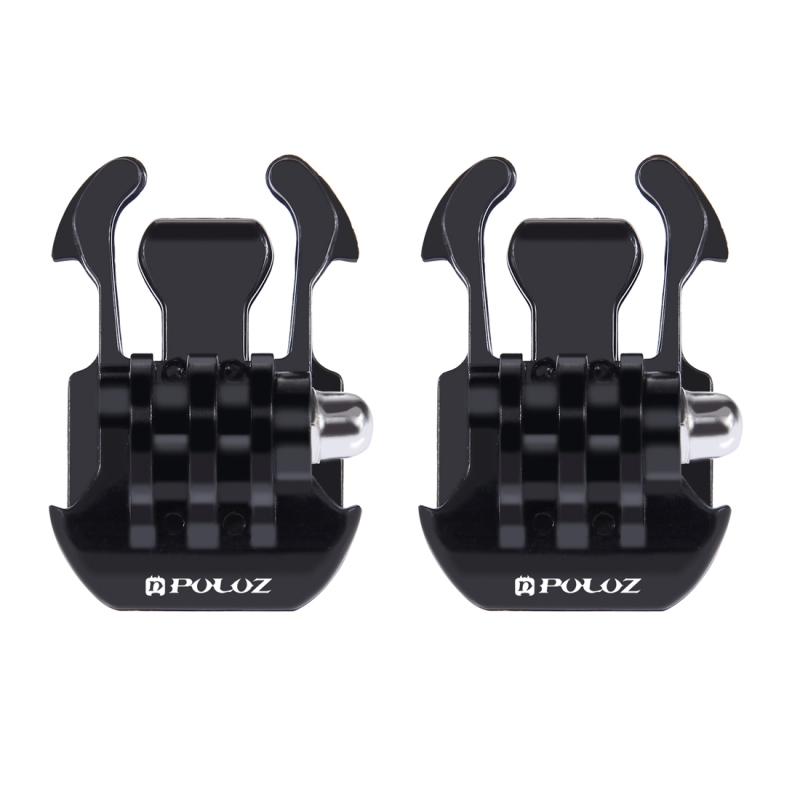 2 PCS PULUZ horizontaal oppervlak Quick Release Buckle voor  GoPro HERO 7 / 6 / 5 / 5 session / 4 session / 4 / 3+/ 3 / 2 / 1  , Xiaoyi nl andere actie camera's