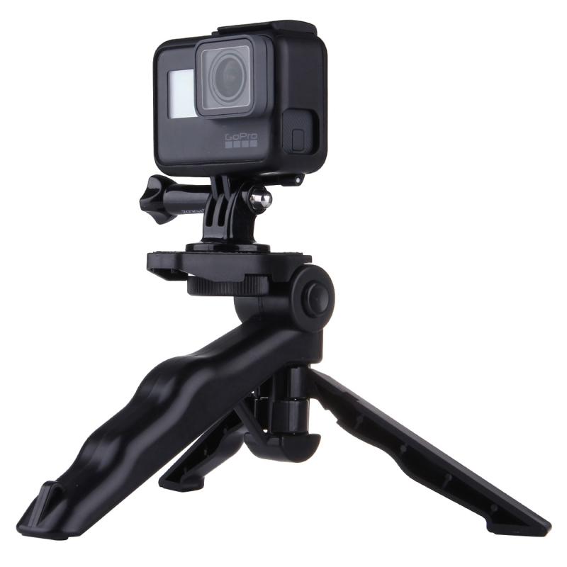 Ontmoet PULUZ Grip vouwen Tripod Mount Adapter & schroevens voor  GoPro HERO 7 / 6 / 5 / 5 session / 4 session / 4 / 3+/ 3 / 2 / 1 , SJ4000, digitale camera's, Load Max: 2kg(zwart)