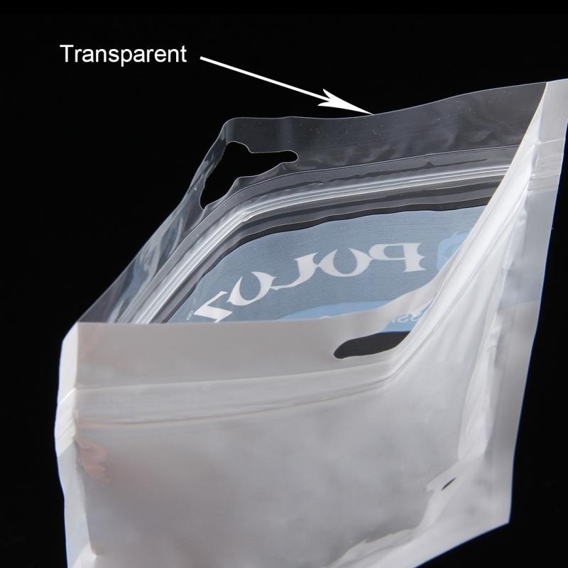 10 PCS PULUZ 25.8 x 18 cm hangen gat duidelijk Front (wit) Pearl Jewelry Zip-Lock verpakking zak (Afmeting: L)