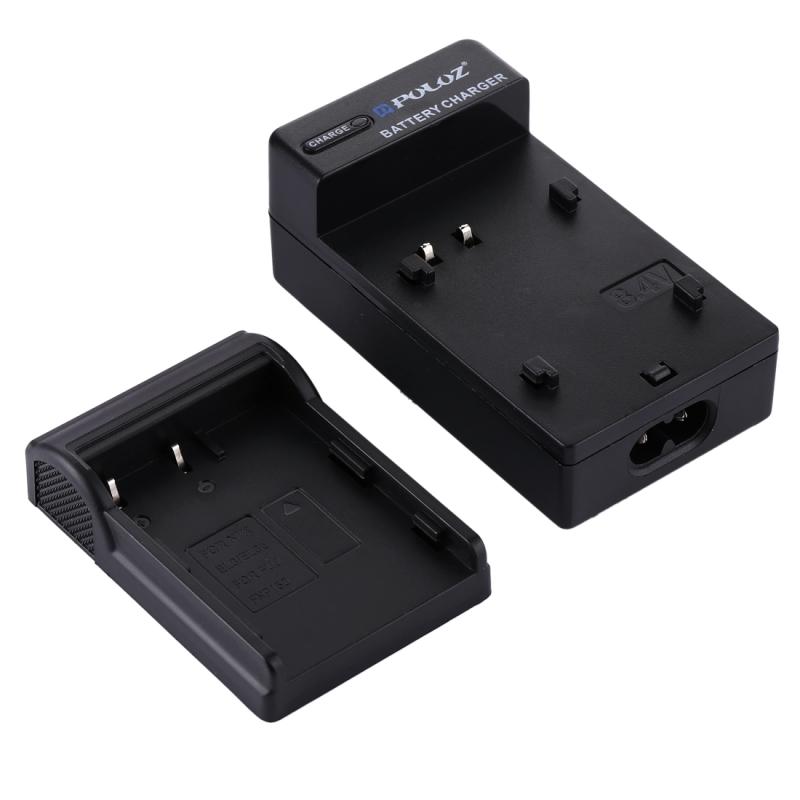 PULUZ EU Plug batterijlader met kabel voor Nikon EN-EL3 / nl-EL3e FUJI FNP150 batterij