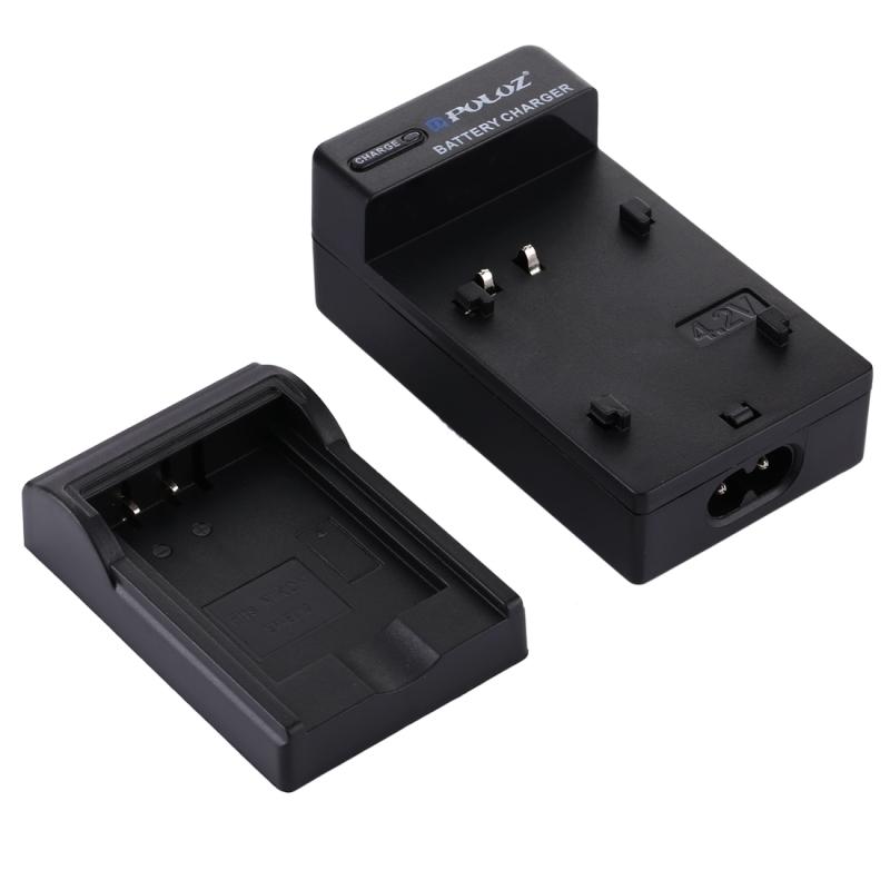 PULUZ EU Plug batterijlader met kabel voor Nikon EN-EL12 accu