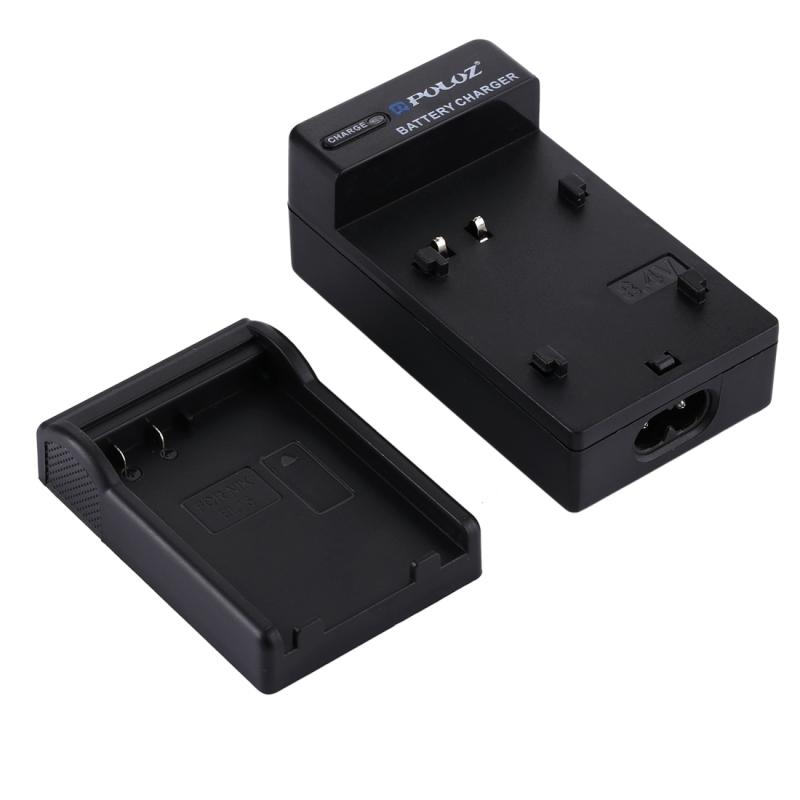 PULUZ EU Plug batterijlader met kabel voor Nikon EN-EL15 accu