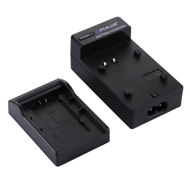 PULUZ EU Plug acculader met kabel voor Canon BP718 / BP727 accu