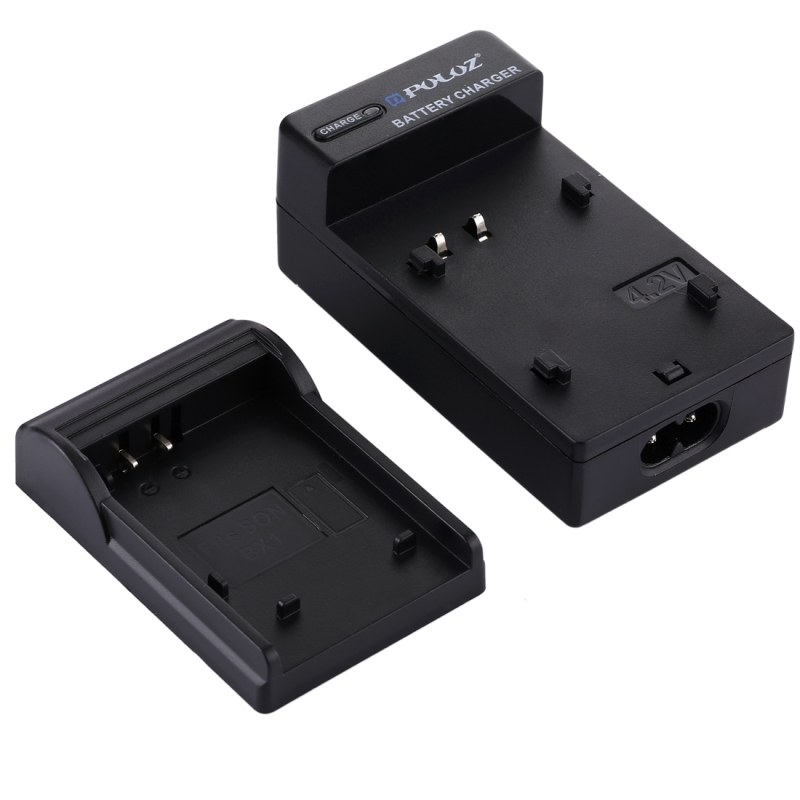 PULUZ EU Plug batterijlader met kabel voor Canon NB - 6L accu