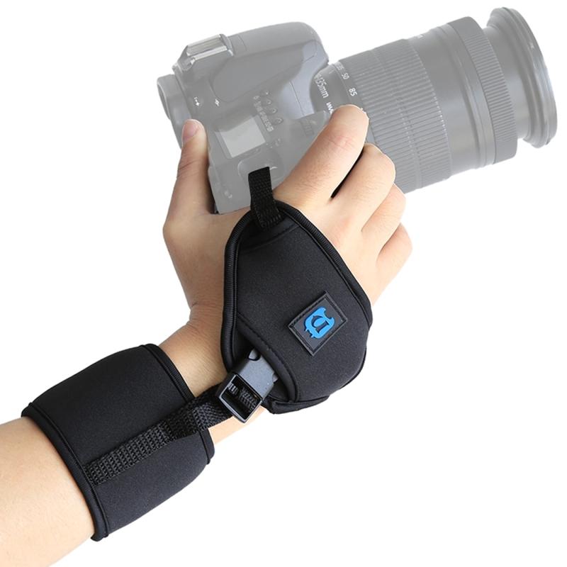 PULUZ zachte neopreen Hand Grip polsband met 1/4 inch schroef Plastic plaat voor SLR / DSLR camera's