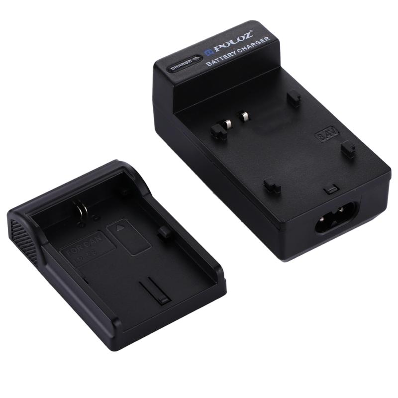 PULUZ 2-in-1 Digitale Camera batterij autolader voor de Canon LP-E6 accu
