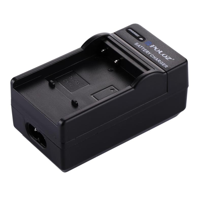 PULUZ 2-in-1 Digitale Camera batterij autolader voor CASIO CNP40 batterij