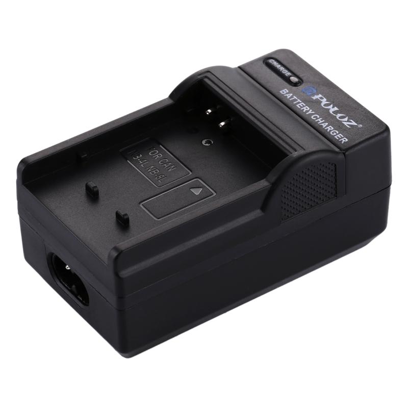 PULUZ 2-in-1 Digitale Camera batterij autolader voor de Canon NB - 4L / NB - 8L accu