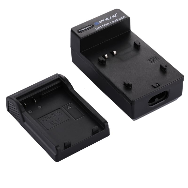 PULUZ 2-in-1 Digitale Camera batterij auto-oplader voor Nikon EN-EL14 accu