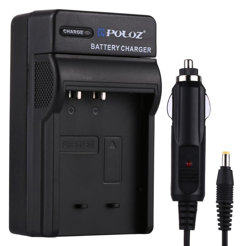 PULUZ 2-in-1 Digitale Camera batterij autolader voor Sony NP-BG1 batterij