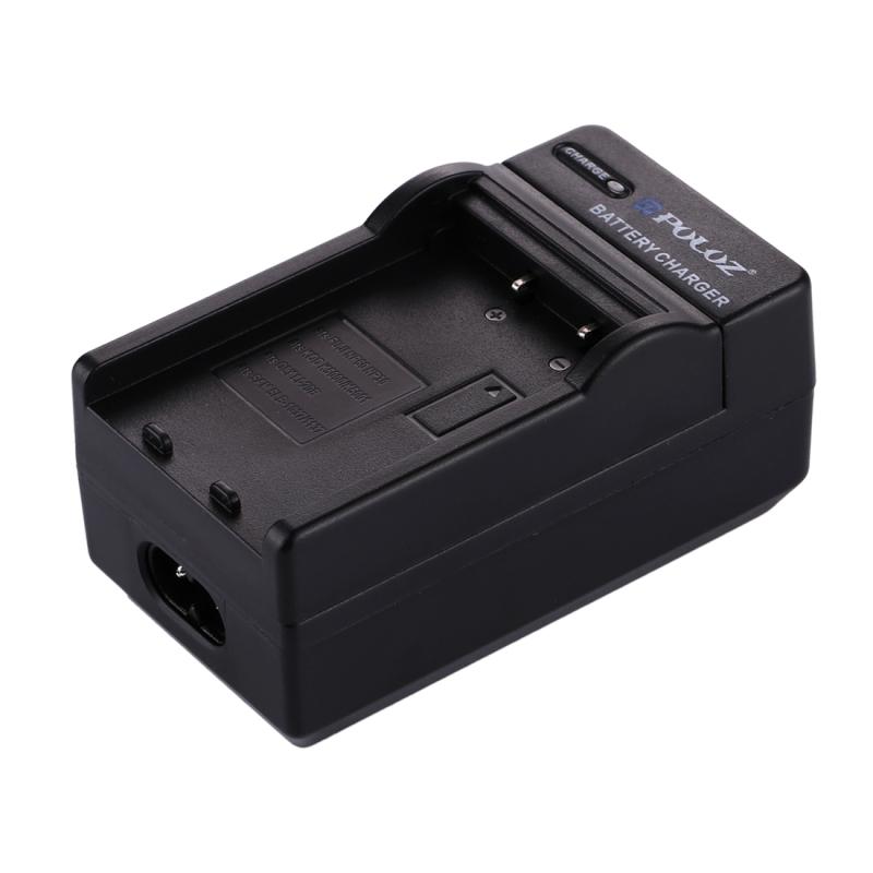 PULUZ 2-in-1 Digitale Camera batterij autolader voor Fujifilm NP-60 / NP-30 Kodak K5000 / K5001 Olympus LI-20B Samsung SLB-1037 / 1137 batterij