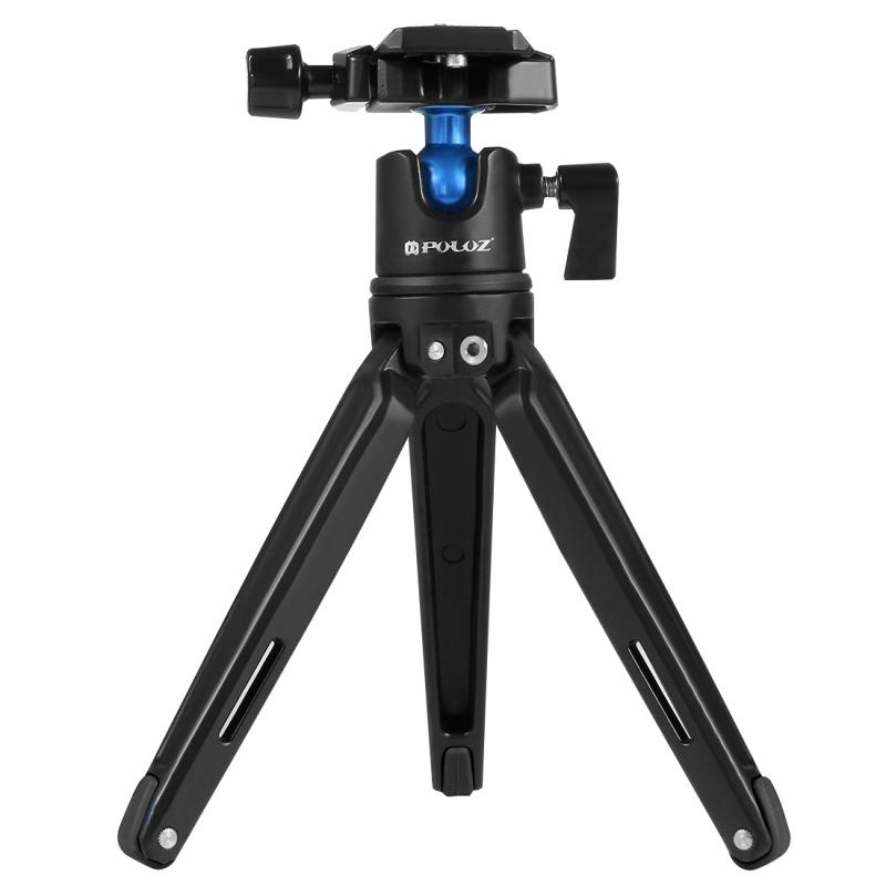 PULUZ Pocket Mini Metalen Desktop Tripod Statief Statief met 360 graden Balhoofd voor DSLR & Digitale Camera, Verstelbare hoogte: 11-21 cm