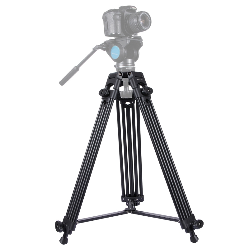 PULUZ Stevige Professionele Video Camcorder Aluminium Tripod Statief Standaard voor DSLR / SLR Camera  Verstelbare hoogte: 62-150 cm